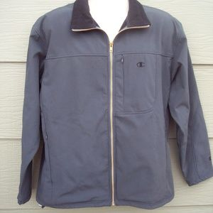 Champion Mens Windbreaker Zipper Jacket Sz M 46 In